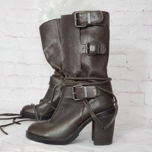 Vince Camuto skylas wrap motorcycle boots 6.5